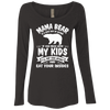 Mama Bear Top NL6731 Next Level Ladies' Triblend LS Scoop