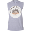 """Country Bumpkin"" Cottage Est 2018 muscle shirt"