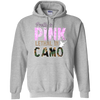 """Pretty In Pink. Lethal In Camo"" Gildan Pullover Hoodie 8 oz."