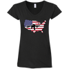 2A USA Ladies' Fitted Softstyle 4.5 oz V-Neck T-Shirt