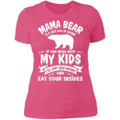 Mama Bear Top NL3900 Next Level Ladies' Boyfriend T-Shirt