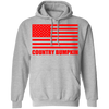 """Country Bumpkin"" Red American Flag G185 Pullover Hoodie 8 oz."