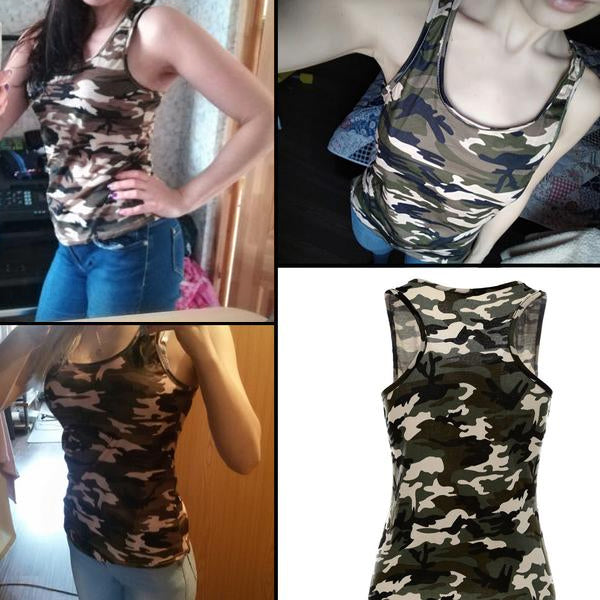 Army Camo Summer Tank Top T-Shirt