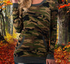 Women's Camo Tunic/Sweatshirt/Sweater Dress - Longsleeve Army Camouflage