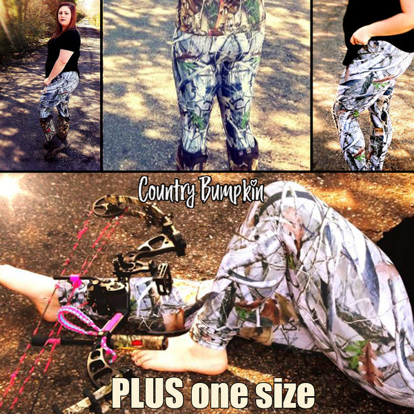 PLUS One Size 3d Printing Camo Women's Leggings