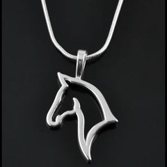 Cute Horse Metal Necklace - Pendant