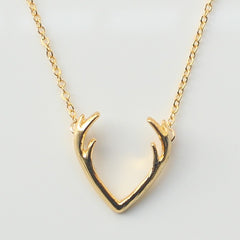 Cute Deer Antler Country Style Pendant/Necklace