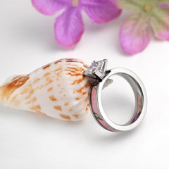 Women's Light Pink Tree Camo Wedding Band/Ring Engagement Ring