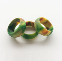 'Camouflage/Camo Sizes 6-12 Hypoallergenic Flexible Silicone Rubber Wedding Band/Engagement Ring