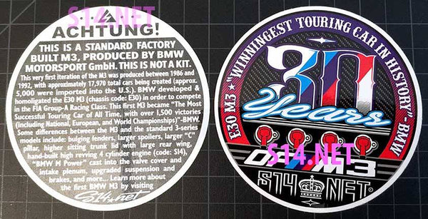 30th Anniversary stickers (set of 4)
