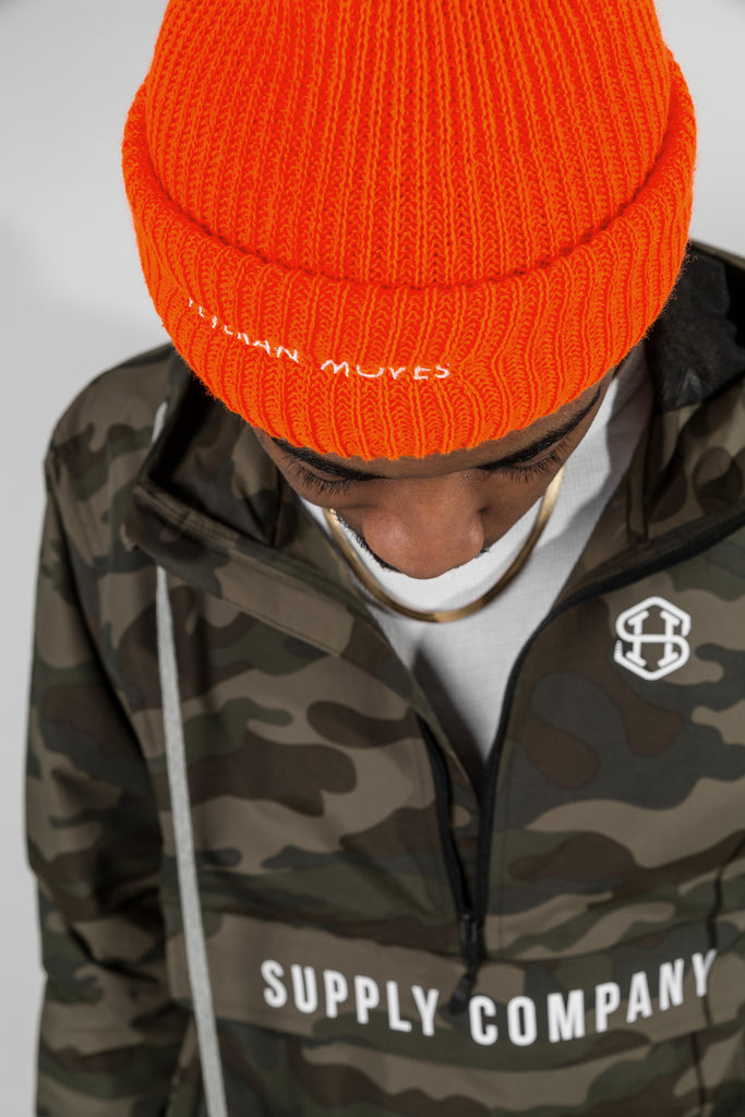 a28c0643a6c ... Heavy knit fisherman beanie - Hunter orange