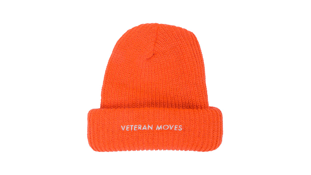 991e80643a302 Heavy knit fisherman beanie - Hunter orange ...