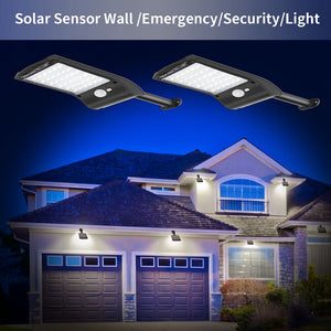 Solar Powered LED Security Street Lamp for lighting Outdoor Spaces and Provides Enhanced Security for Dark Streets.