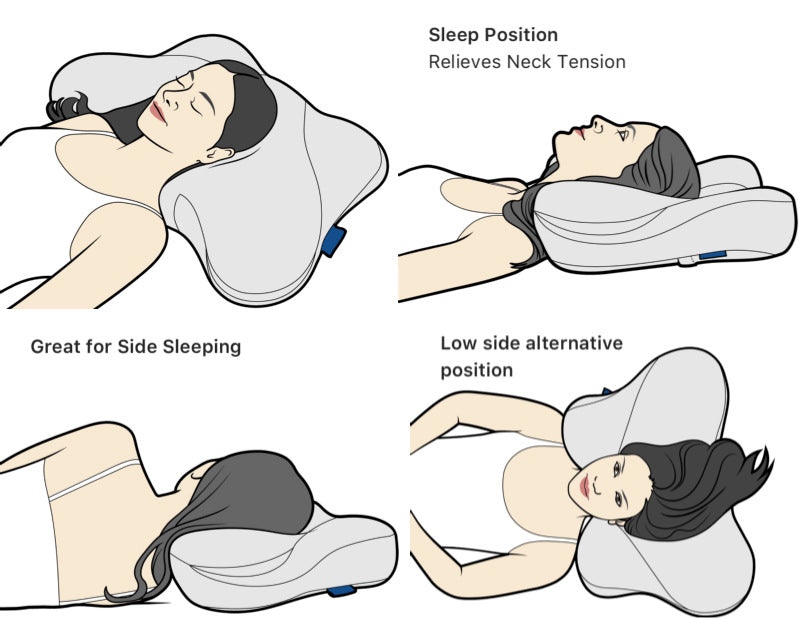 How to use cervical pillow illustrations