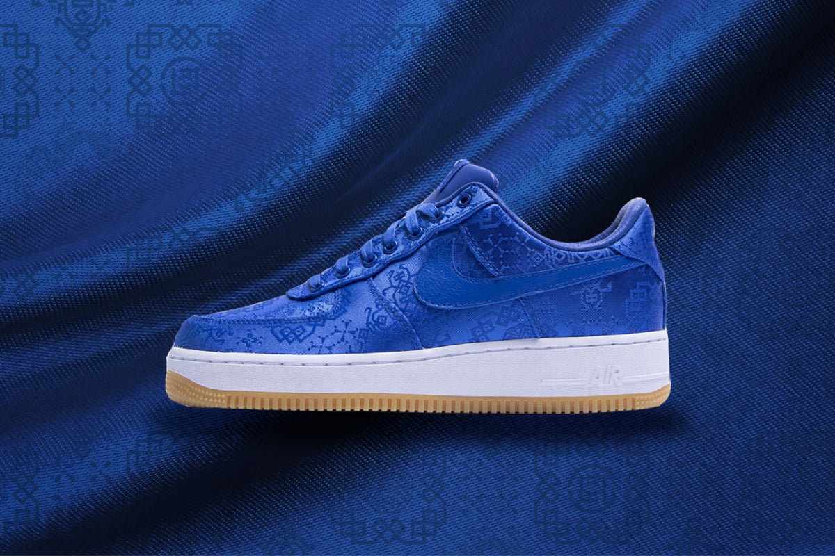 Download Clot X Nike Royale University Blue Silk Air Force