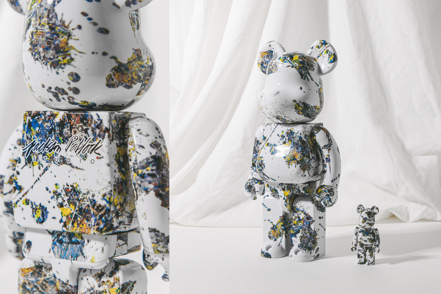 MEDICOM TOY'S BE@RBRICK AND ITS HOMAGE TO VISUAL ARTISTS: JACKSON POLLOCK