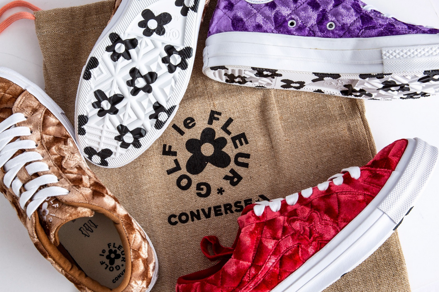 Tyler, the Creator's GOLF le FLEUR* x Converse Quilted Velvet Release