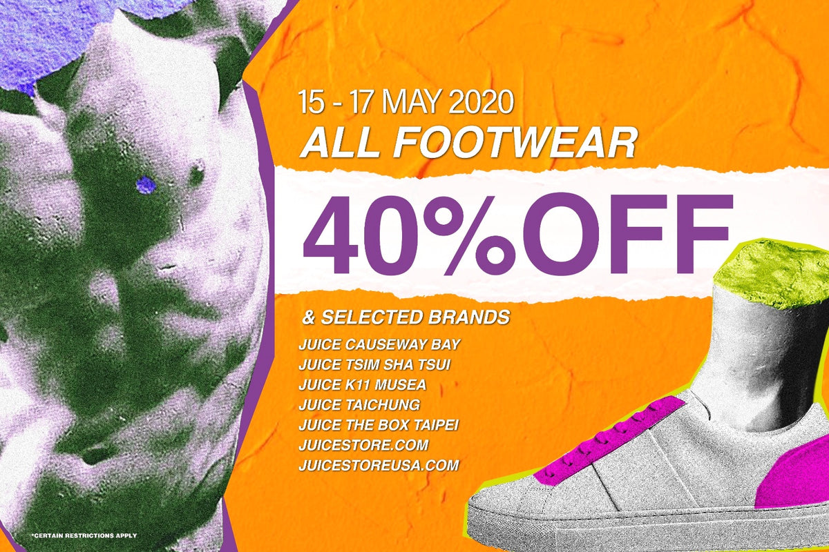 FLASH 40 FOOTWEAR SALE at JUICE - Limited Time Only!