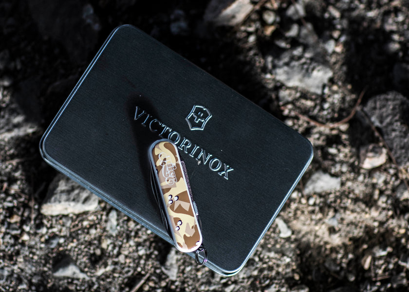 "Bring Your CLOT x Victorinox ""Desert Camo"" Utility Knife for Free Engravings"