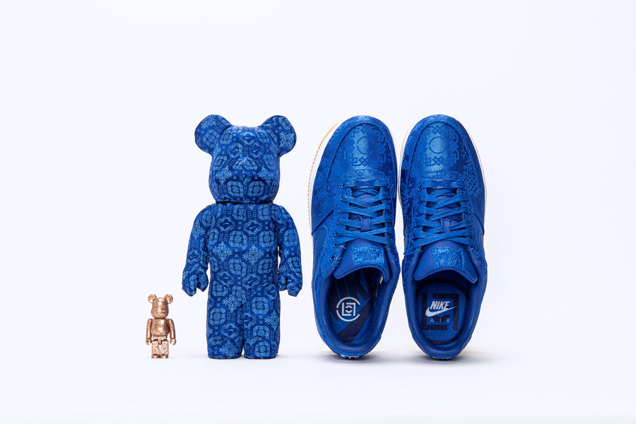"RAFFLE: CLOT x Nike x Medicom Toy ""Royale University Blue Silk"" Collaboration"