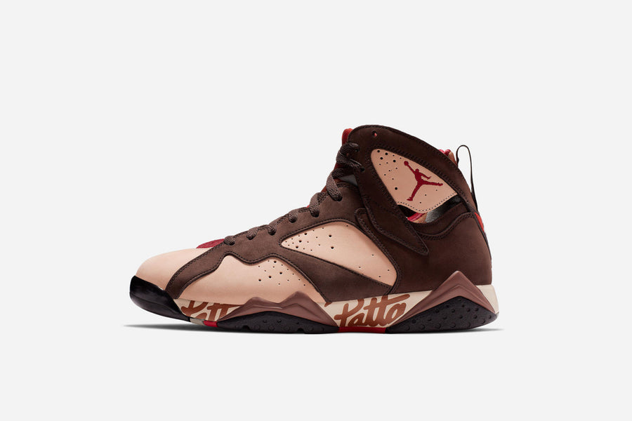 "Raffle: Patta x Air Jordan 7 ""Shimmer/Tough Red-Velvet Brown"""