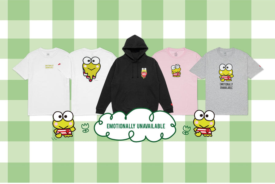 Emotionally Unavailable taps Sanrio's Keroppi for exclusive Fall Winter 2020 Collection
