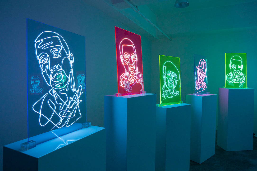 """NEON RAP PORTRAITS"" Illuminating The Meaning Behind Freestyle by Natalie Wong"