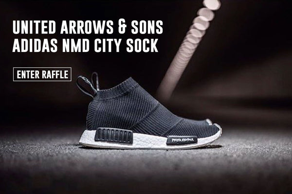 UNITED ARROWS & SONS X ADIDAS NMD CITY SOCK RAFFLE