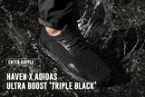 HAVEN x adidas Ultra Boost 'Triple Black' RAFFLE