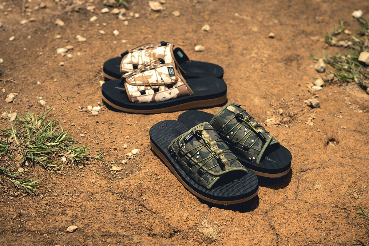 "JUICE Teams Up With SUICOKE on a Collection of ""Alienegra Desert Camo"" Slides"