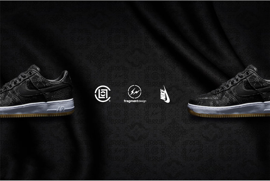 Download CLOT x fragment design x Nike Black Silk Air Force 1 Inspired Wallpapers!