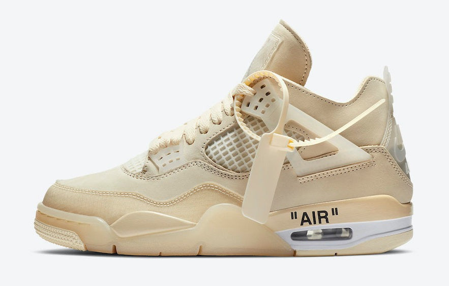 "RAFFLE: WMNS OFF-WHITE X AIR JORDAN 4 RETRO ""SAIL"""
