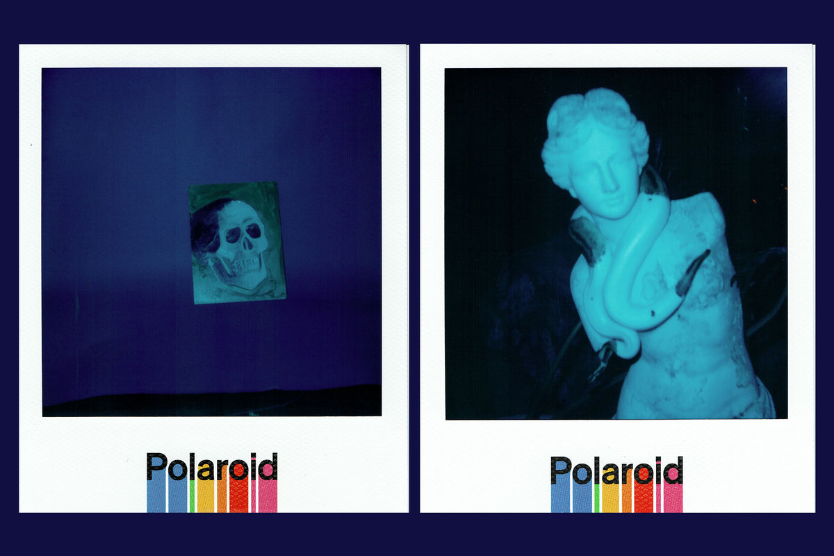 "Kenneth Cappello for CLOT x Polaroid 600 ""Royale University Blue Silk"""
