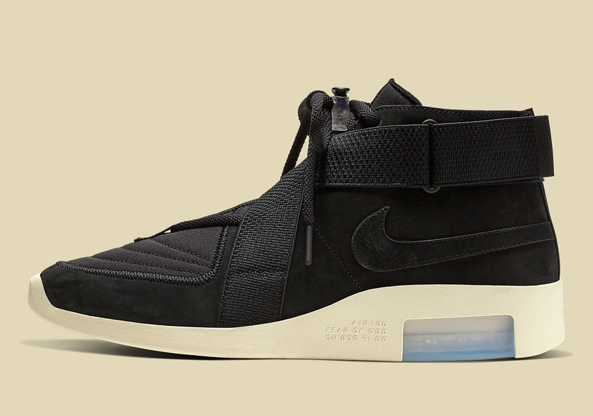 "Raffle: Nike Air Fear of God Raid ""Black/Black Fossil"""