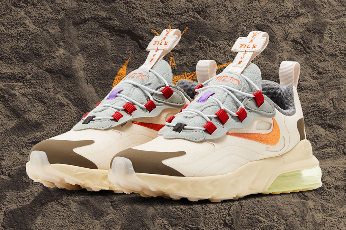 "RAFFLE: Travis Scott x Nike Air Max 270 React ""Cactus Trails"" (GS)"