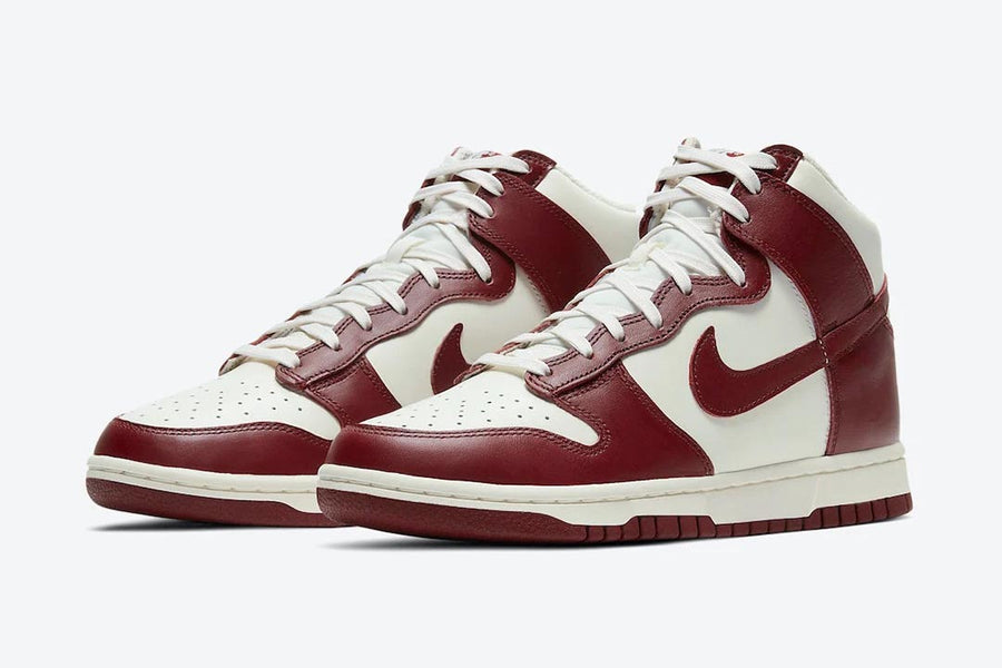 "RAFFLE: (WMNS) NIKE DUNK HI SP ""SAIL/TEAM RED-PALE IVORY"""