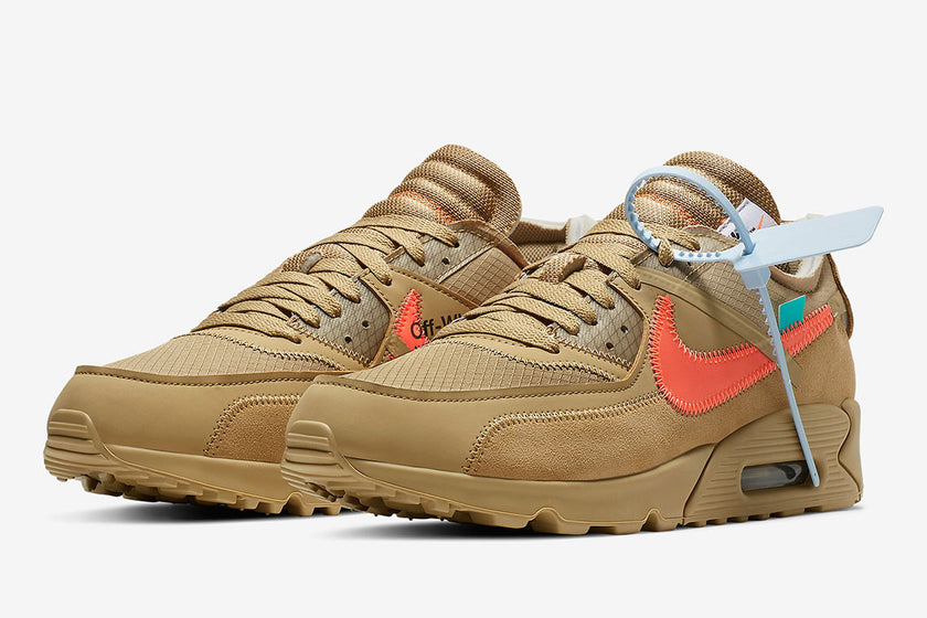"Nike x OFF-WHITE Air Max 90 ""Black"" and ""Desert-Ore"" Raffle"