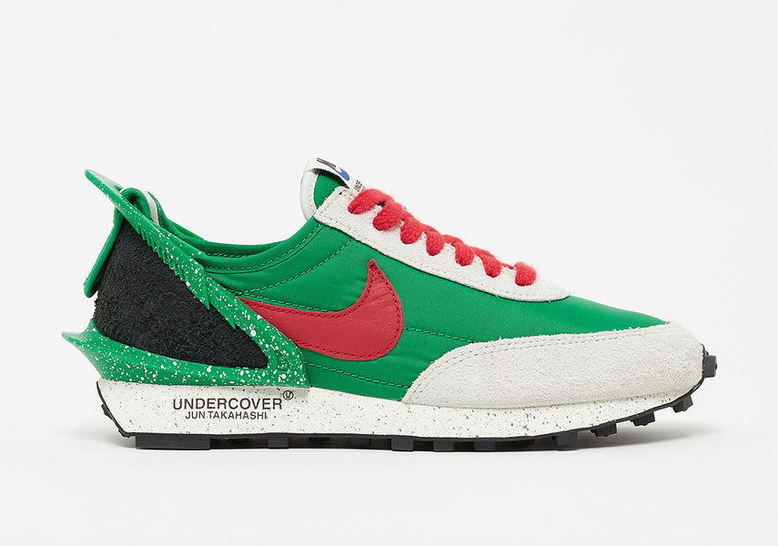"Raffle: UNDERCOVER x Nike Daybreak ""Lucky Green/University Red-Sail"""