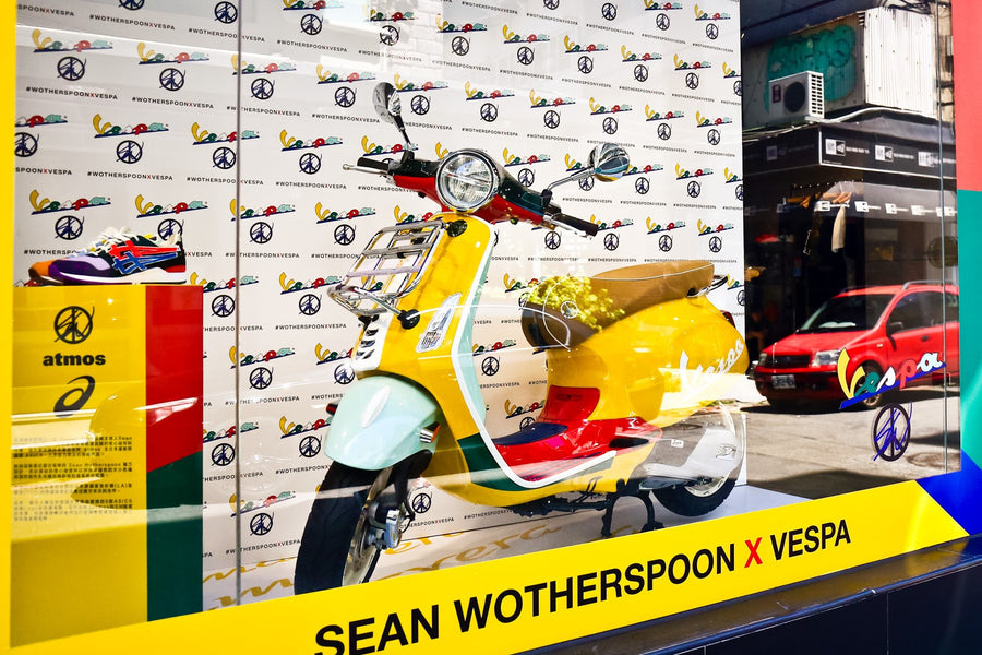 Vespa's Sean Wotherspoon Primavera exhibit at JUICE Taipei