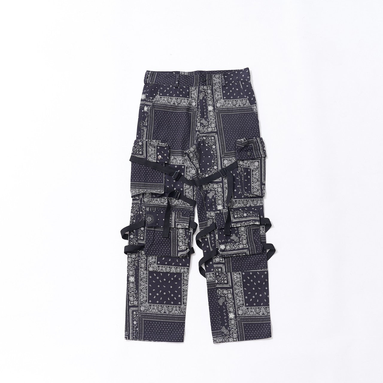 BANDANA BONDAGE PANTS (BLACK)