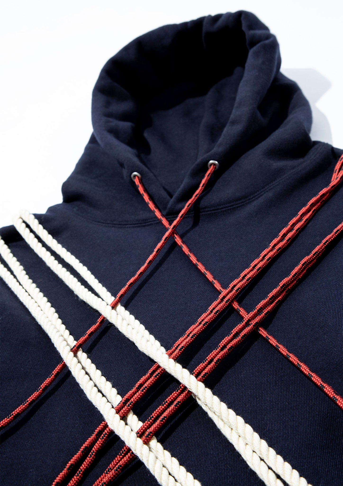 "CLOT LACE HOODIE NAVY FALL/WINTER 2020 ""CORPORATE CLIMBING"""