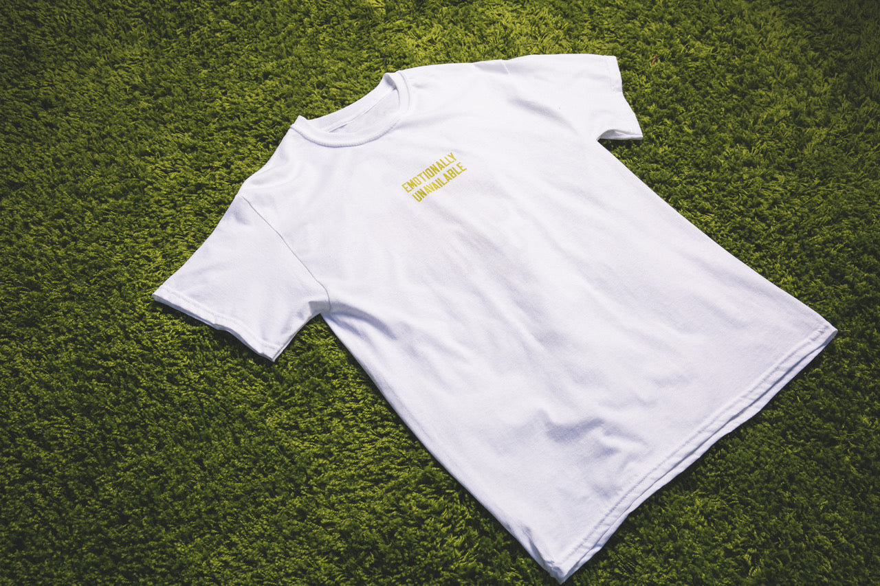 Word Mark T-Shirt (White) Front