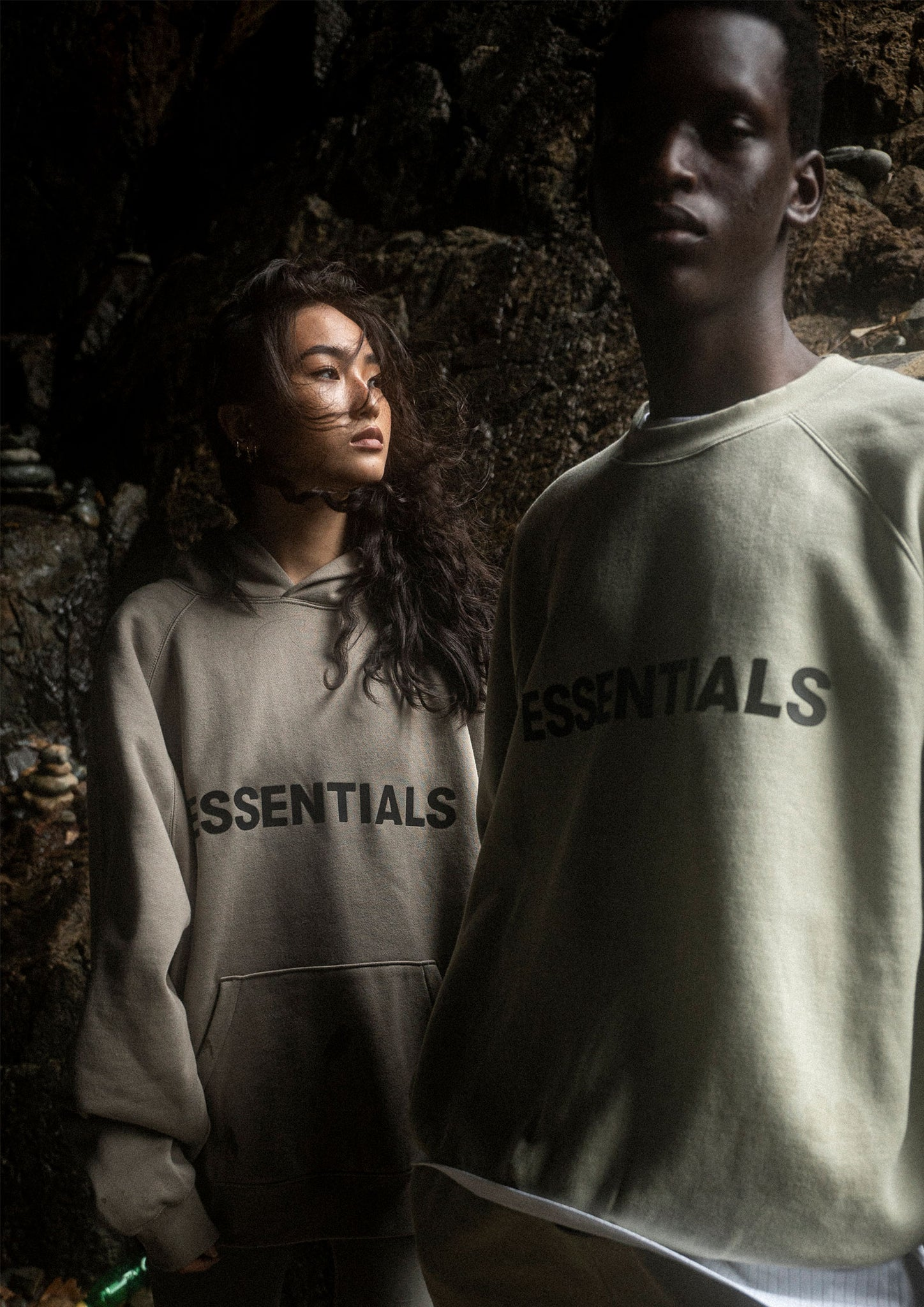 Fear of God ESSENTIALS SAGE CREWNECK + SHORTS | SAGE HOODIE