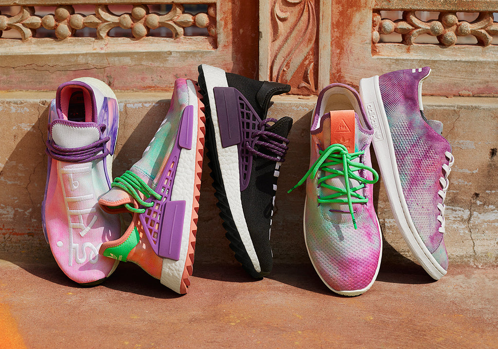 "Pharrell x adidas Originals Holi Festival ""Powder Dye"" Pack"