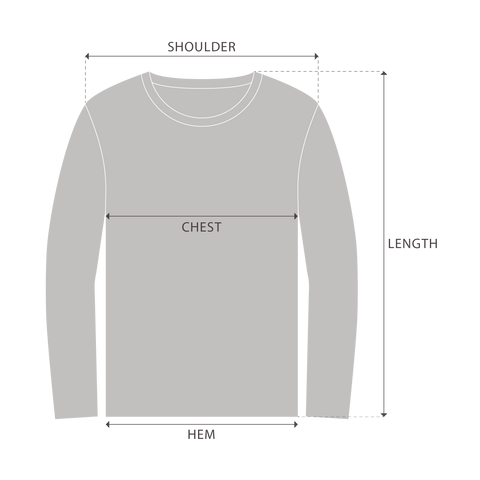 Sweatshirts Measurement