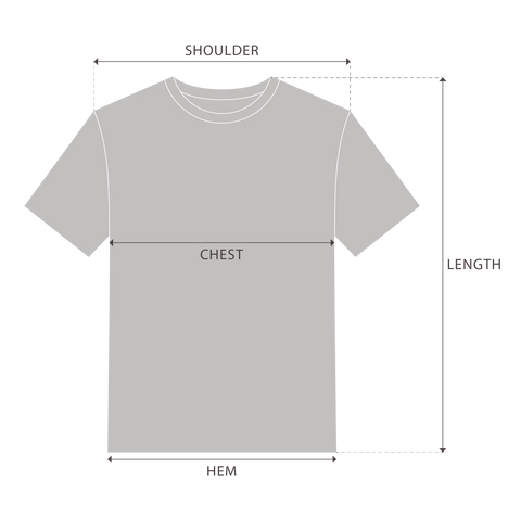 T-Shirts Measurement