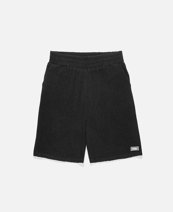 Topos Shaved Terry Shorts (Black)