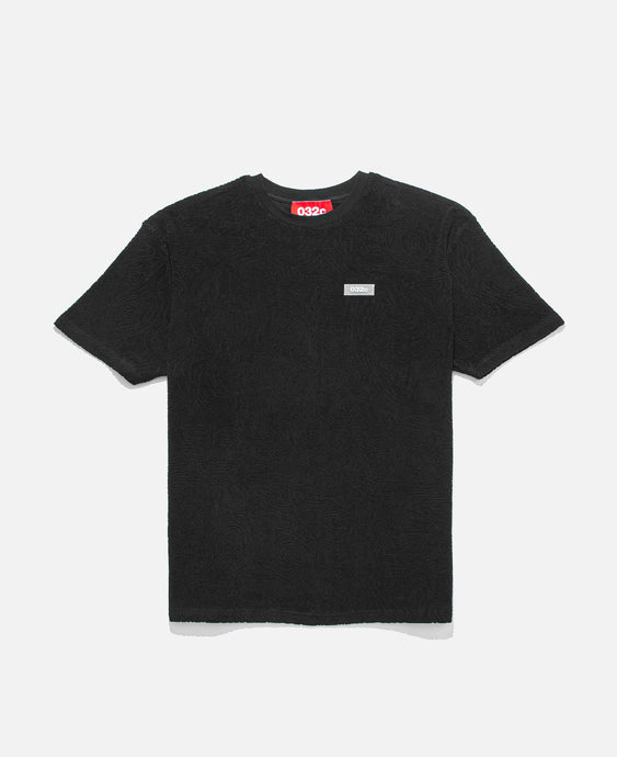 Topos Shaved Terry T-Shirt (Black)