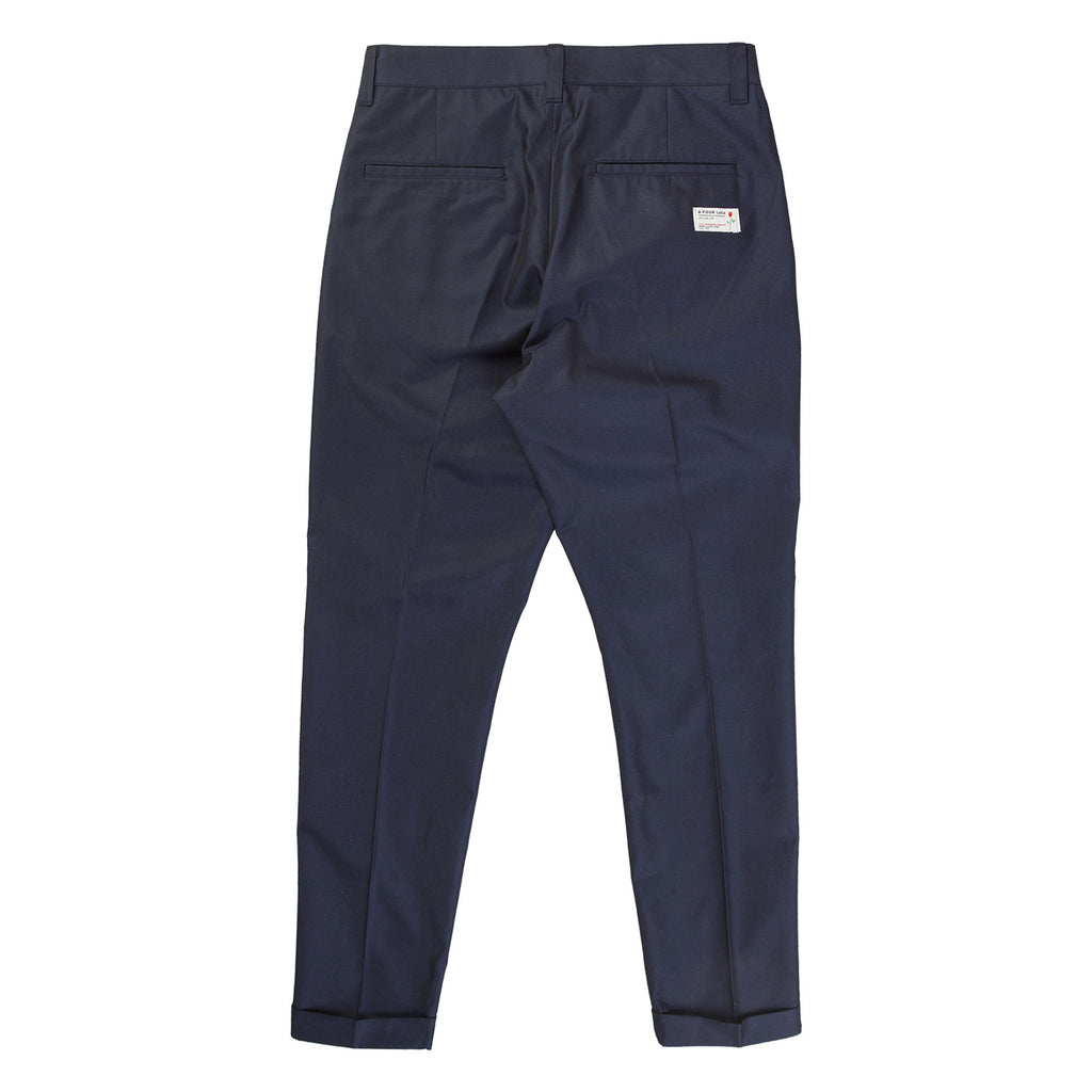SHARK SKIN TUCK PANT (NAVY)