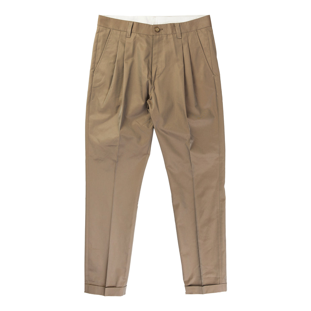 SHARK SKIN TUCK PANT (BROWN)